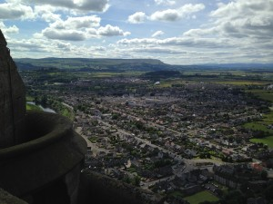 View from the top of the Wallace Monument