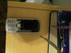 Argentine phone Monica bought for me.