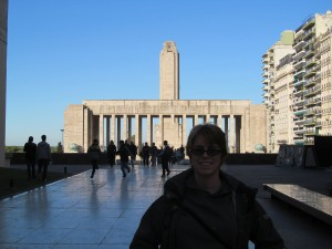 Me at the National Flag Monument in Rosario.