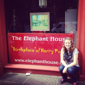 At the Elephant House (I had a huge nerd moment)