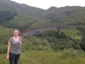 Me and the Glenfinnan Viaduct (Harry Potter Bridge)