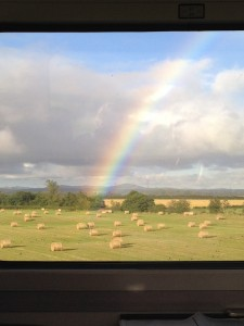 Rainbow we saw from the train back to Scotland