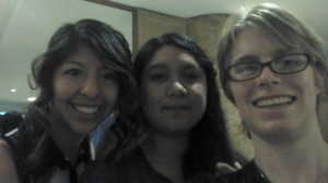 The goodbye dinner with my friends Isamar and Karina.