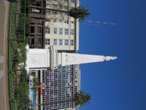 Plaza de Mayo in Buenos Aires, surrounded by many important buildings and where the Madres de Mayo demonstrated.