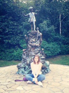 Peter Pan statue in the park