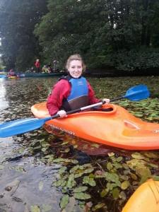 Kayaking on Airthrey Loch