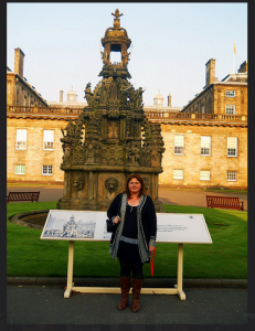 In front of Holyrood Palace